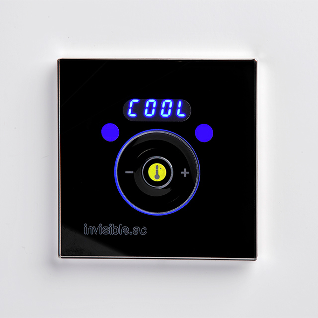 Invisible.AC touch control room controller black
