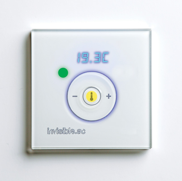 Invisible.AC touch control room controller white